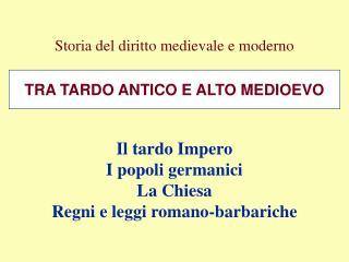 Storia del diritto medievale e moderno