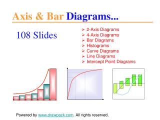 Axis & Bar diagrams and graphics for powerpoint presentation