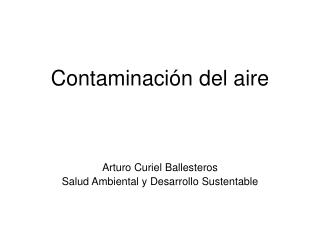 Contaminaci n del aire