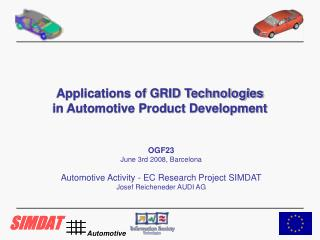 Applications of GRID Technologies in Automotive Product Development