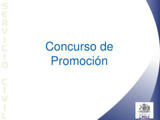 Concurso de  Promoci n