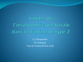 Limites de  l insulinoth rapie basale dans le diab te de type 2