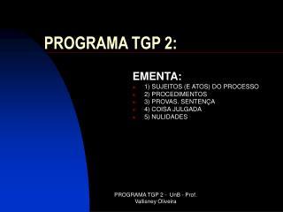 PROGRAMA TGP 2: