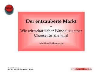 Harald Klimenta Wie wir Gewinner des Wandels werden