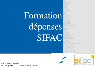 Formation d penses SIFAC