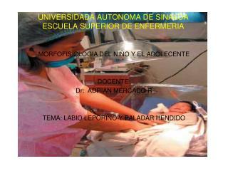 UNIVERSIDADA AUTONOMA DE SINALOA ESCUELA SUPERIOR DE ENFERMERIA