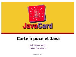 St phane AMATO Julien CHABANON   Novembre 2001