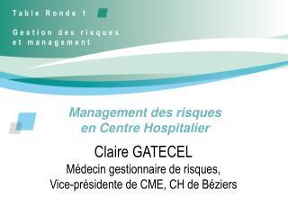 Management des risques  en Centre Hospitalier