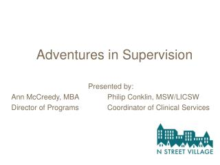 Adventures in Supervision