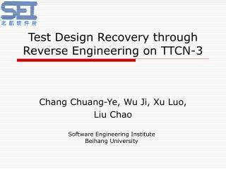 Test Design Recovery through Reverse Engineering on TTCN-3