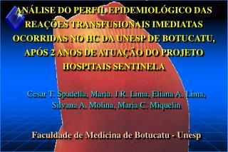 AN LISE DO PERFIL EPIDEMIOL GICO DAS REA  ES TRANSFUSIONAIS IMEDIATAS OCORRIDAS NO HC DA UNESP DE BOTUCATU, AP S 2 ANOS