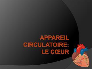 Appareil circulatoire: Le C ur