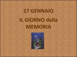 27 GENNAIO