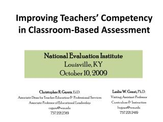 Improving Teachers  Competency in Classroom-Based Assessment
