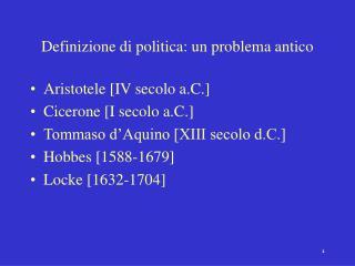 Definizione di politica: un problema antico