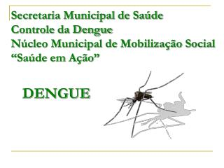 Secretaria Municipal de Sa de Controle da Dengue N cleo Municipal de Mobiliza  o Social  Sa de em A  o