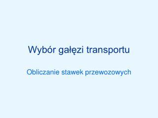 Wyb r galezi transportu