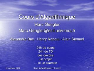 Cours d Algorithmique