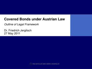 Covered Bonds under Austrian Law