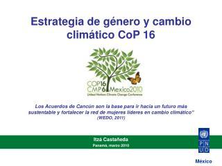 Estrategia de g nero y cambio clim tico CoP 16
