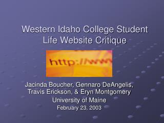 Western Idaho College Student Life Website Critique