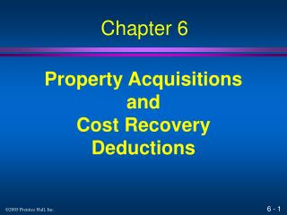 Property Acquisitions and Cost Recovery Deductions