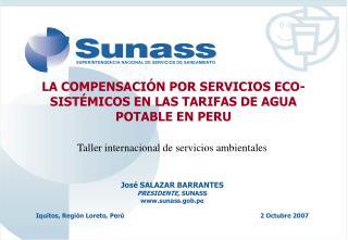 LA COMPENSACI N POR SERVICIOS ECO-SIST MICOS EN LAS TARIFAS DE AGUA POTABLE EN PERU