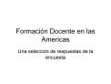 Formaci n Docente en las Americas