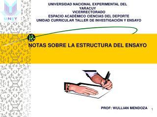 VICERRECTORADO ESPACIO ACAD MICO CIENCIAS DEL DEPORTE UNIDAD CURRICULAR TALLER DE INVESTIGACI N Y ENSAYO
