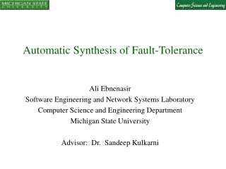 Automatic Synthesis of Fault-Tolerance