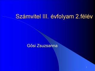 Sz mvitel III.  vfolyam 2.f l v