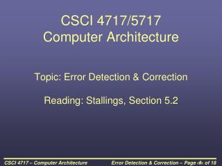 CSCI 4717