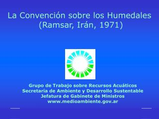 Grupo de Trabajo sobre Recursos Acu ticos Secretar a de Ambiente y Desarrollo Sustentable Jefatura de Gabinete de Minist