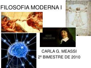 FILOSOFIA MODERNA I