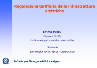 Regolazione tariffaria delle infrastrutture elettriche