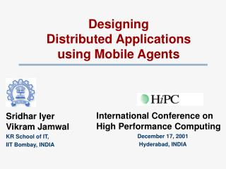 Designing  Distributed Applications  using Mobile Agents