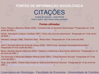 FONTES DE INFORMA  O SOCIOL GICA