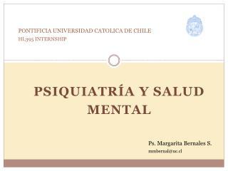 PONTIFICIA UNIVERSIDAD CATOLICA DE CHILE HL395 INTERNSHIP