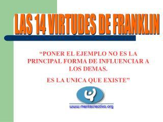 LAS 14 VIRTUDES DE FRANKLIN