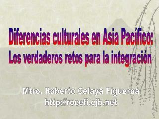 Diferencias culturales en Asia Pac fico: