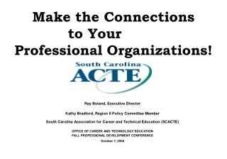 The Role of Professional Organizations in Career and Technical Education