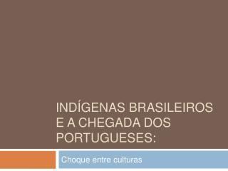 Ind genas Brasileiros  e a chegada dos portugueses: