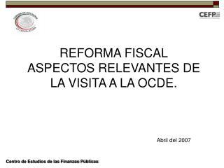 Centro de Estudios de las Finanzas P blicas