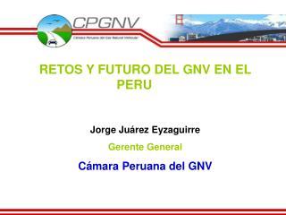 RETOS Y FUTURO DEL GNV EN EL PERU   Jorge Ju rez Eyzaguirre Gerente General C mara Peruana del GNV