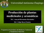 Programa Universitario de Medicina Tradicional y Terap utica Naturista