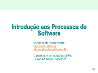 Introdu  o aos Processos de Software
