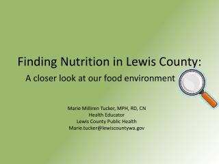 Finding Nutrition in Lewis County: