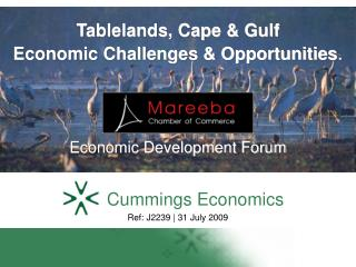 Tablelands, Cape  Gulf  Economic Challenges  Opportunities.