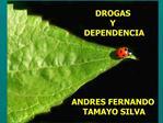 DROGAS  Y  DEPENDENCIA       ANDRES FERNANDO  TAMAYO SILVA