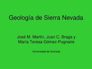 Geolog a de Sierra Nevada